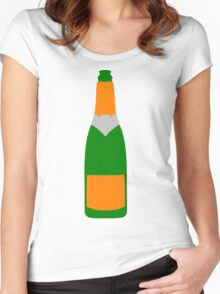 Champagne bottle Women's Fitted Scoop T-Shirt