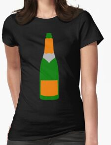 Champagne bottle Womens Fitted T-Shirt