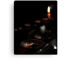 Votive Candle Stand Canvas Print