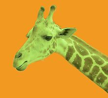Green Neon Giraffe by ExistenceIF