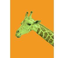 Green Neon Giraffe Photographic Print