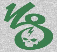 KrakkdSkullz - KS Logo - Green One Piece - Long Sleeve
