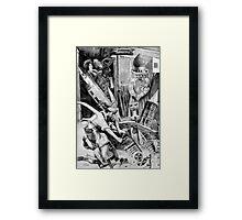 Sculptures Despair. Framed Print