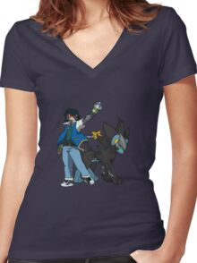 Metal Gear Pokemon Women's Fitted V-Neck T-Shirt