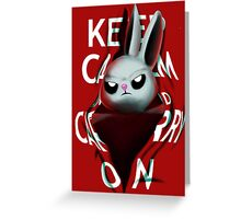 Keep Calm and Run from Angel Greeting Card