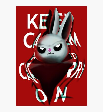 Keep Calm and Run from Angel Photographic Print