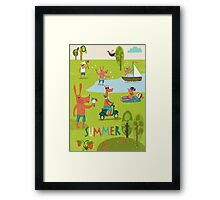 Summertime  Framed Print