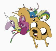 Adventure Time All Character Kids Tee