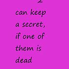 2 Can Keep a Secret if One of Them is Dead Pretty Little Liars by obdobuk