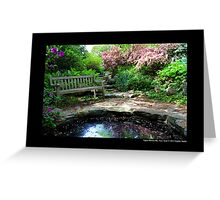 Planting Fields Arboretum State Historic Park Bench By The Pond - Upper Brookville, New York Greeting Card