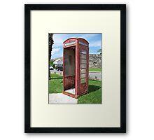 Bermuda Telephone Booth . . .  Framed Print