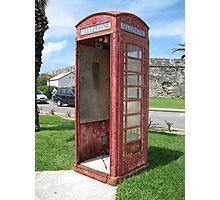 Bermuda Telephone Booth . . .  Photographic Print