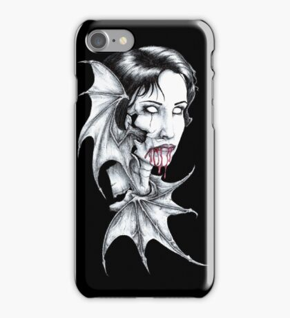 Portrait of a Vampire iPhone Case/Skin