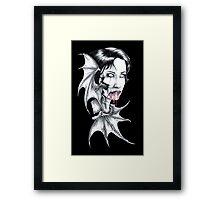 Portrait of a Vampire Framed Print