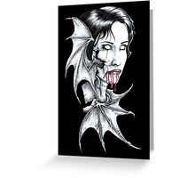 Portrait of a Vampire Greeting Card