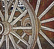 Weathered Wagon Wheels by designingjudy