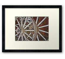 Weathered Wagon Wheels Framed Print