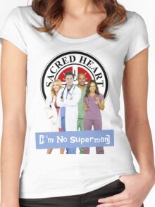 I'm no Superman - Scrubs Women's Fitted Scoop T-Shirt