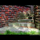 Planting Fields Arboretum State Historic Park Red Brick Stairs Detail - Upper Brookville, New York by © Sophie W. Smith