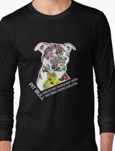 Pitbull BSL White Long Sleeve T-Shirt