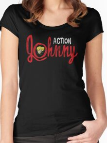 Action Johnny Logo Women's Fitted Scoop T-Shirt