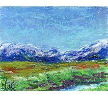 Sierra Slopes (pastel) Photographic Print