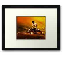 Glass and Bronze Framed Print