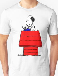Typewriter Snoopy Unisex T-Shirt