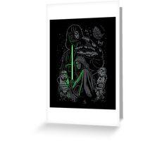 Skywalking Dead on Black Greeting Card
