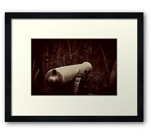 Battlefield Cannon Framed Print