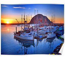 Morro Bay California Sunset Poster