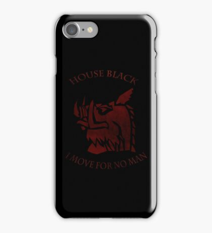 House Black (Distressed) iPhone Case/Skin