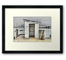 Shed on Torpedo Wharf, Devonport Framed Print
