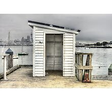 Shed on Torpedo Wharf, Devonport Photographic Print