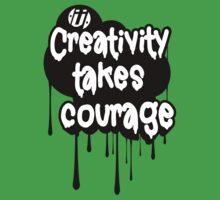 Creativity Takes Courage B&W Baby Tee