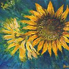 Sunflower Study (acrylic) by Dianne  Ilka