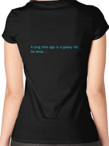 a long time ago in a galaxy far,far away.... (back) Women's Fitted Scoop T-Shirt