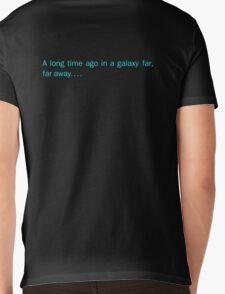 a long time ago in a galaxy far,far away.... (back) Mens V-Neck T-Shirt