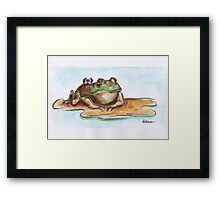 An Unlikely Place for Tea Framed Print