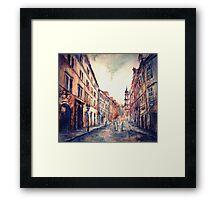 Rains in Prague Framed Print