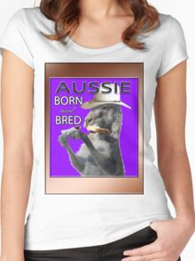 AUSSIE BORN & BRED Women's Fitted Scoop T-Shirt