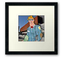 Hipster Hercules Framed Print