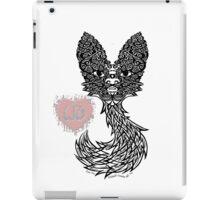 Faux Fox (Black and White) iPad Case/Skin