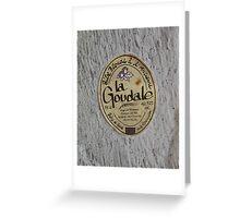 LA GOUDALE. Greeting Card