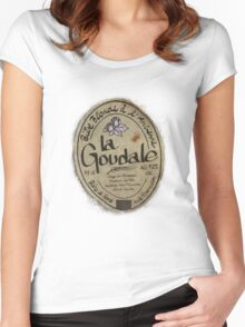 LA GOUDALE. Women's Fitted Scoop T-Shirt