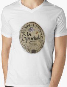 LA GOUDALE. Mens V-Neck T-Shirt