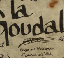 LA GOUDALE. Sticker
