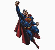 flying superman by fejant