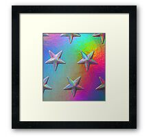 PSYCHEDELIC STARS. Framed Print