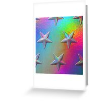 PSYCHEDELIC STARS. Greeting Card